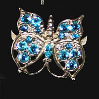 Женское серебряное кольцо бабочка