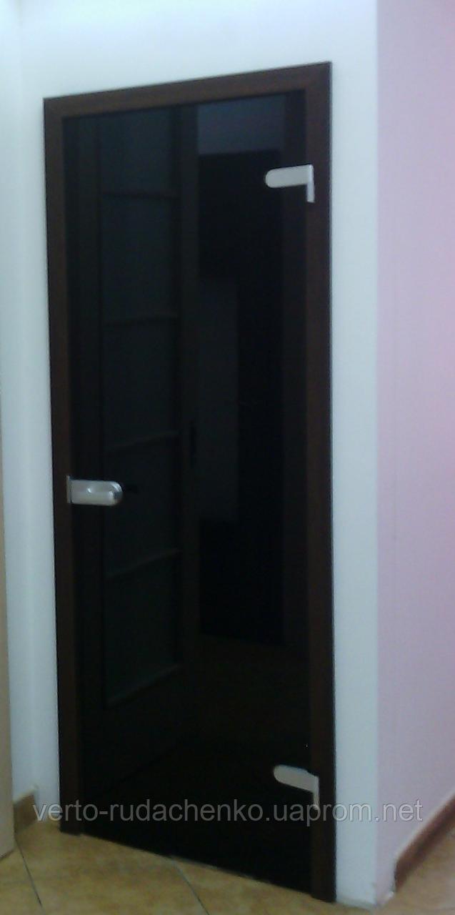 Двери Verto Гласфорд 1 со стеклом триплекс черный