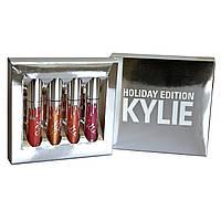 Набір рідких матових помад Kylie Holiday Edition (У наборі 4 шт.), фото 1