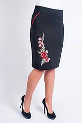 Женская юбка с аппликацией размер 44-52