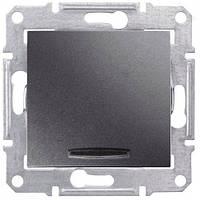 Выключатель 2-х полюсный с подсветкой Schneider Electric Sedna 10A Графит (SDN0201270)