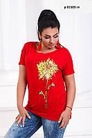 Женская футболка батальная   р 01505 гл, фото 1