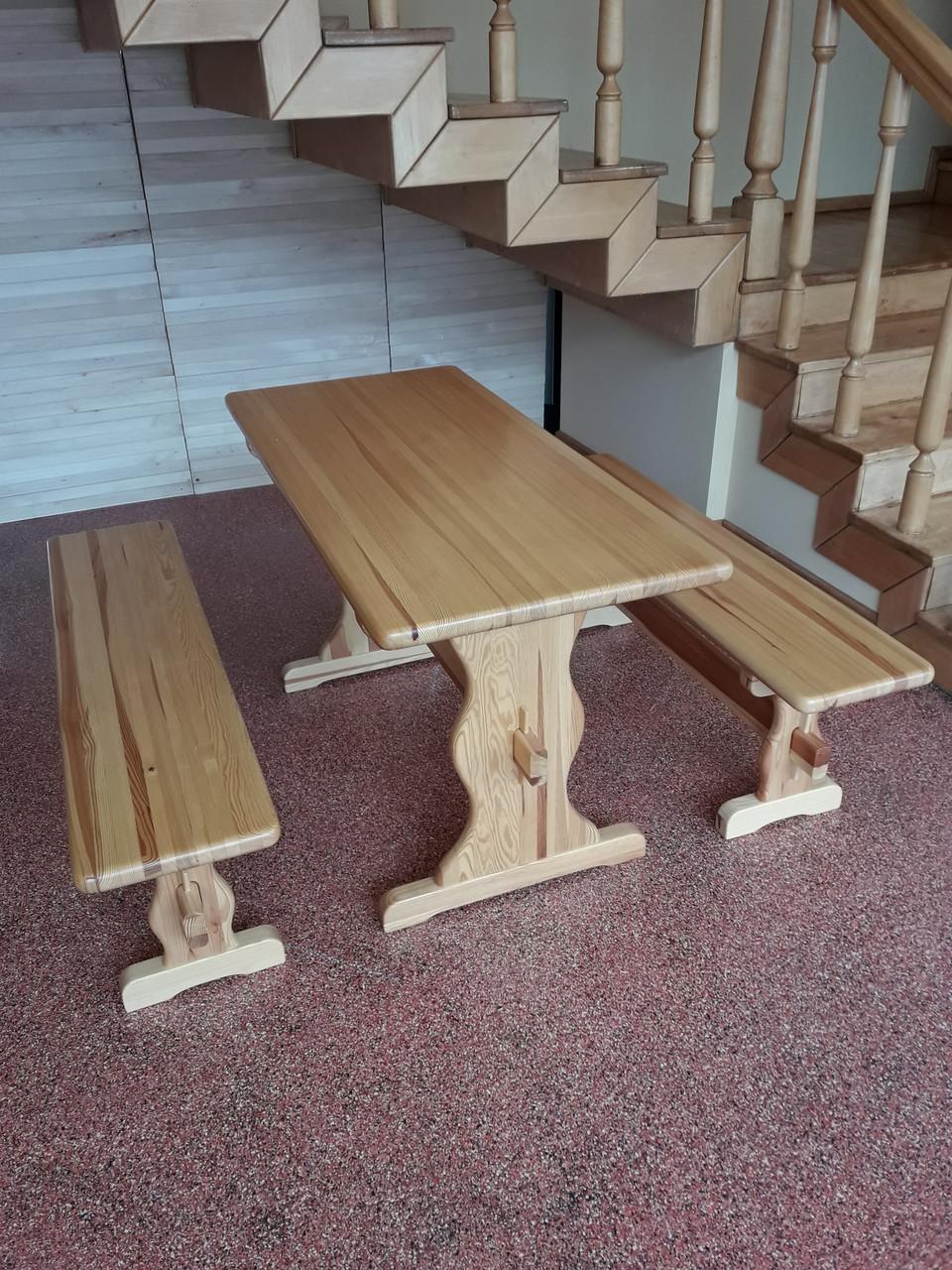 """Набор """"ВИКИНГ"""" 1,3м стол+2 лавки"""