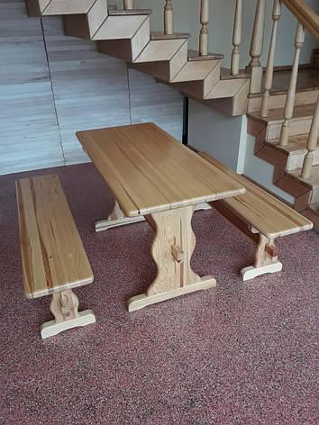 "Набор ""ВИКИНГ"" 1,3м стол+2 лавки, фото 2"