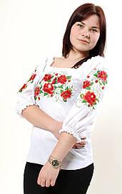 Батистовая женская вышитая блузка Cовершенство