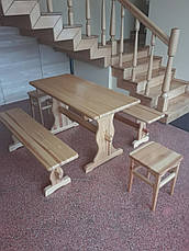 "Набор ""ВИКИНГ"" 1,3м стол+2 лавки, фото 3"