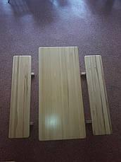"""Набір """"ВІКІНГ"""" 1,8 м стіл+2 лавки, фото 2"""