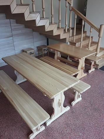 "Набор ""ВИКИНГ"" 1,8м стол+2 лавки, фото 2"