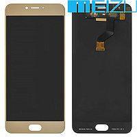 Модуль Meizu M3x (дисплей + touchscreen) белый/золотой копия высокого качества  HC