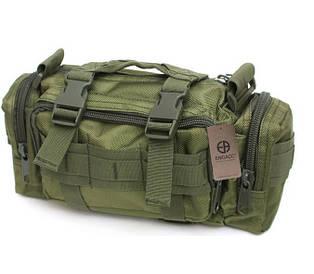 Тактическая универсальная (поясная, наплечная) сумка Silver Knight с системой M.O.L.L.E олива (105)