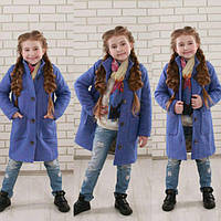 """Пальто для девочки """"Букле"""" шерсть на подкладке весна-осень"""