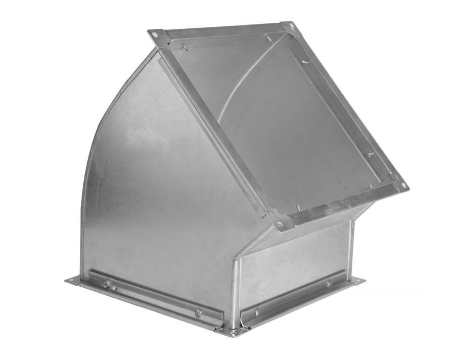 Поворот 45 градусів прямокутного перерізу з оцинкованої сталі