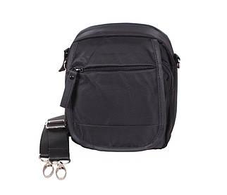 Маленькая мужская сумка на пояс и через плечо черная PR231-11