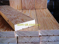 Террасная доска из сибирской лиственницы*  размер 142х27 мм 142х27 мм Длина 2,0-6,0 м