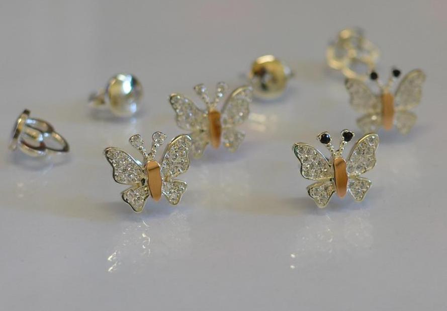 Серебряные серьги гвоздики (Вк-10)