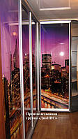 Шкафы-купе собственного производства с различными видами наполнения фасадов.
