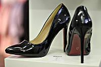 Туфли черные на высоком каблуке Christian Louboutin 25,5 см по стельке