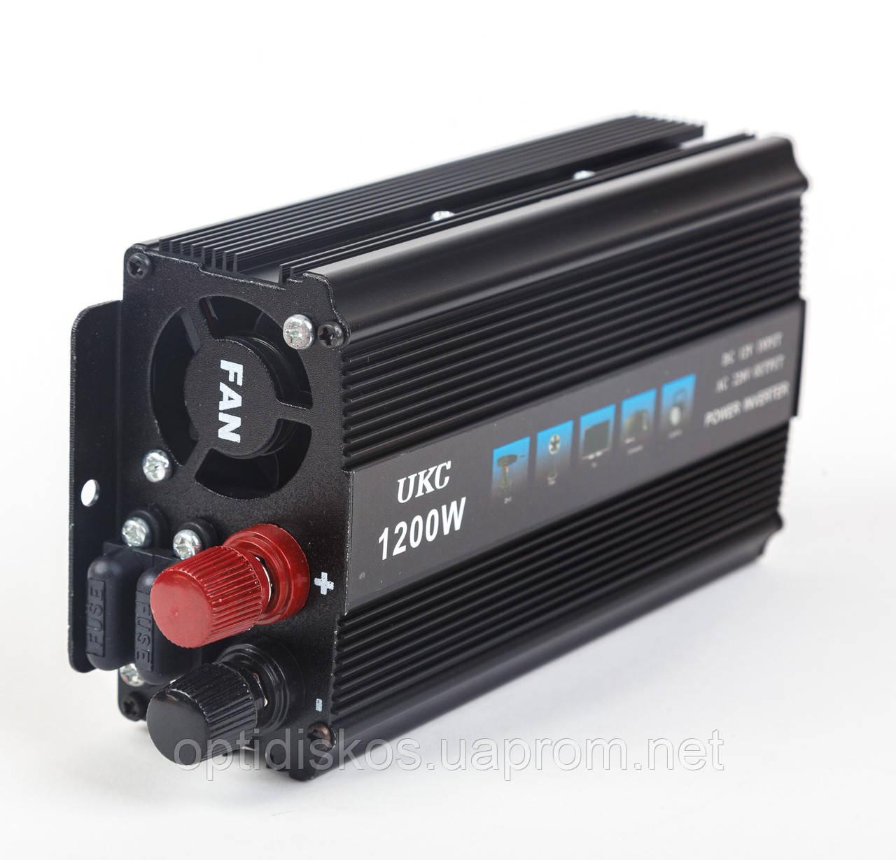 Преобразователь напряжения, инвертор 12-220V UKC AC/DC 1200W SSK