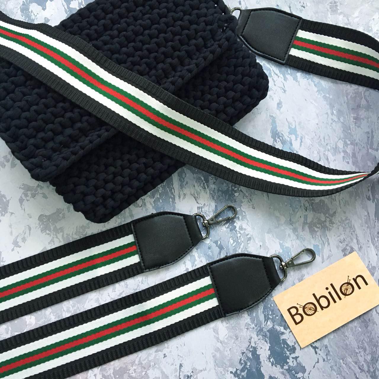 f006bef11f62 Плечевой ремень для сумки с карабинами, цвет красно-зеленый с белым и  черным, цена 170 грн., купить в Харькове — Prom.ua (ID#675289423)