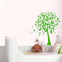 Интерьерная виниловая наклейка Дерево бабочек (пленка самоклеющаяся)