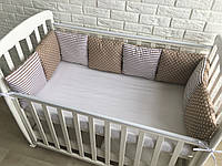 Защита в кроватку, бортики подушки «Ириска»