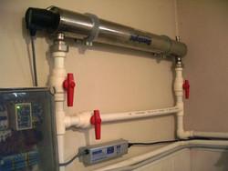 Установка ультрафиолетовой лампы для воды