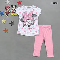 Летний костюм Minnie Mouse для девочки. 110-116 см, фото 1