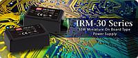 Новые миниатюрные источники питания Mean Well для монтажа на печатную плату серии IRM-30 мощностью 30Вт.