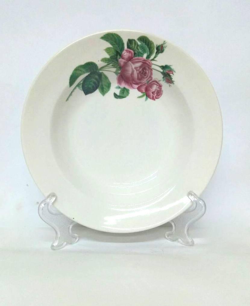 Тарелка керамическая 200 глубокая Роза кавказа 5045СМ