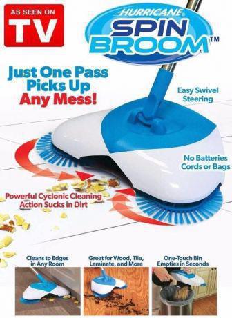Механическая щётка веник швабра для уборки пола Hurricane Spin Broom (Спин Брум)