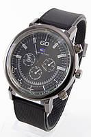 Мужские наручные часы (черный корпус, черный ремешок), фото 1