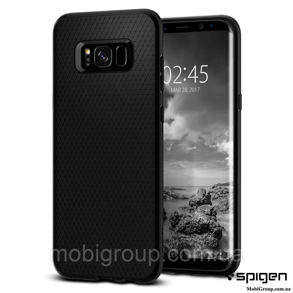 Чехол Spigen для Samsung S8 Plus Liquid Air, Black , фото 1