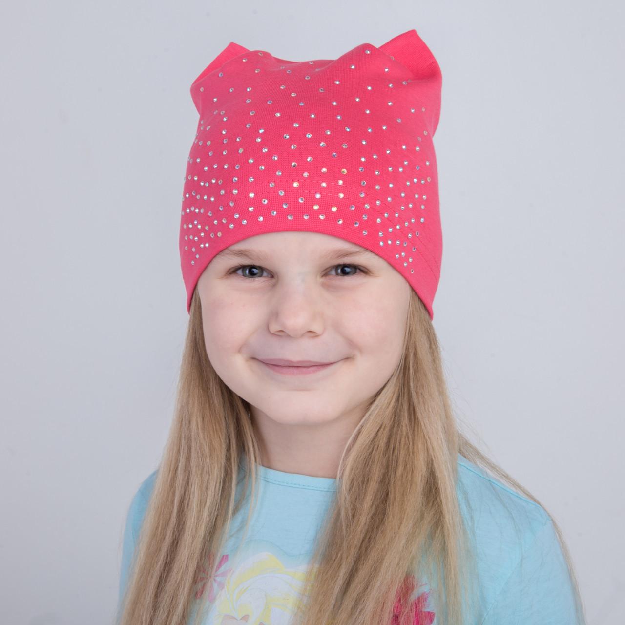 Весенняя шапка для девочек от производителя - Арт 2209