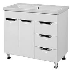 Комплект мебели для ванной комнаты Альвеус  Т-80-31К-З-80-03-П-35-03 с зеркалом и пеналом ПИК, фото 2