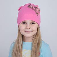 Брендовая шапка на весну для девочки - Арт 2222