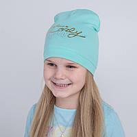 Брендовая шапка на весну для девочки - Арт 2229