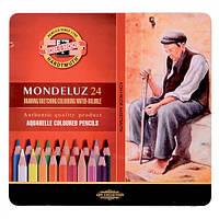 Карандаши акварельные цветные Koh-i-Noor Mondeluz 3724 24 цв. подарочные