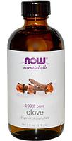 Эфирное масло гвоздики, Now Foods, Clove Oil, 118 ml