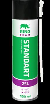 Пена монтажная стандартная RINO  500мл (выход 25л)