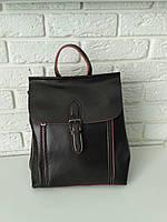 """Женский кожаный рюкзак-сумка (трансформер) """"Милла Dark Brown"""""""
