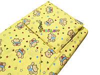 Постельный набор в детскую кроватку (3 предмета) Мишки с сердечками желтый, фото 1