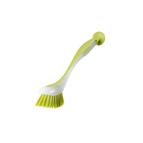 ПЛАСТИС Щетка для мытья посуды на присоске, салатовый 301495562 IKEA, ИКЕА, PLASTIS