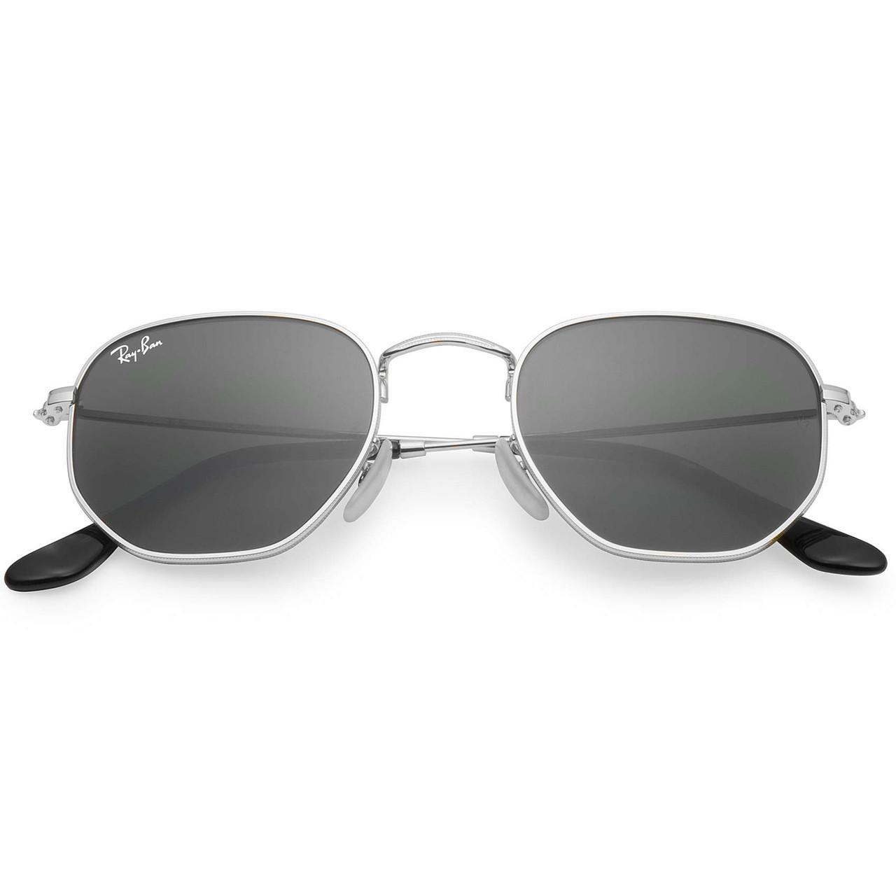 Очки Ray Ban RB 3548N Hexagonal Silver стекло копия солнцезащитные ... 6e8e8c96385d3
