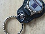 Брелок кожзам округлый Peugeot логотип эмблема Пежо автомобильный на авто ключи комбинированный Уценка, фото 2