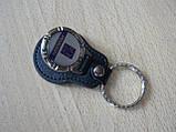Брелок кожзам округлый Peugeot логотип эмблема Пежо автомобильный на авто ключи комбинированный Уценка, фото 3