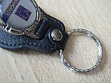 Брелок кожзам округлый Peugeot логотип эмблема Пежо автомобильный на авто ключи комбинированный Уценка, фото 4