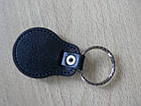 Брелок кожзам округлый Peugeot логотип эмблема Пежо автомобильный на авто ключи комбинированный Уценка, фото 6