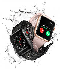 Apple Watch Series 3 38mm GPS Space Gray Aluminum Case with Gray Sport Band (MR352), фото 3