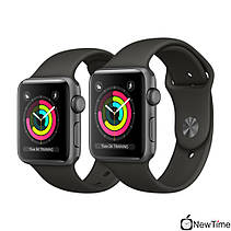 Apple Watch Series 3 38mm GPS Space Gray Aluminum Case with Gray Sport Band (MR352), фото 2