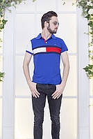 Стильная мужская футболка поло с вставками